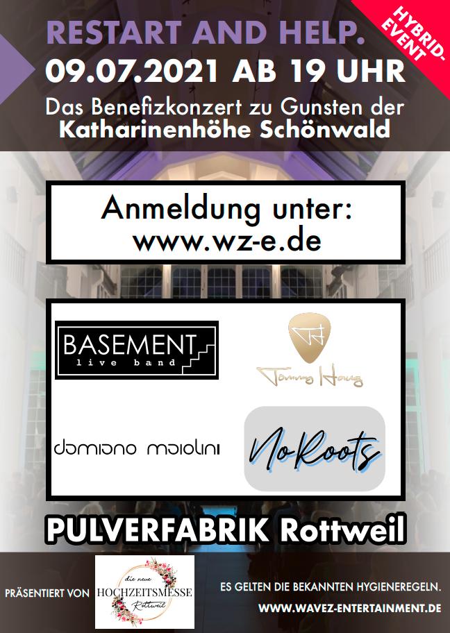 Benefiz-Event am 09.07.21 in der Pulverfabrik Rottweil